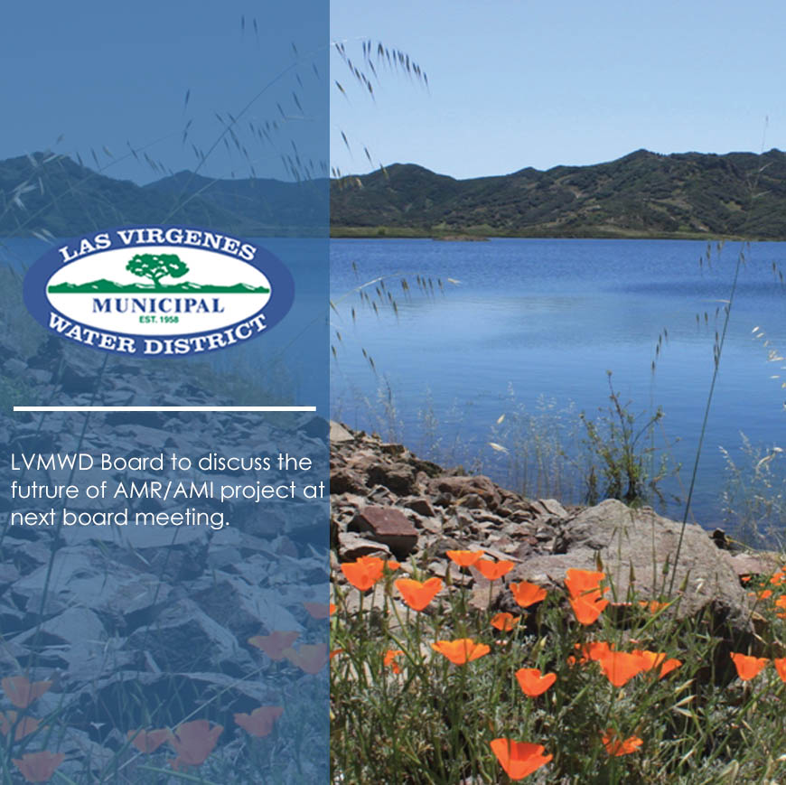 Las Virgenes Municipal Water District to Discuss the Future of AMR/AMI Project at Next Board Meeting